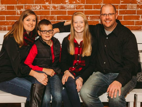 A benefit for Tate Schaefer, shown here with his family,