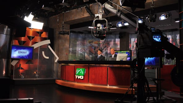 A TVG set in California.