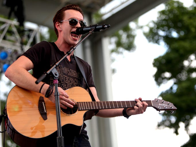 Dakota Bradley performs at the Indiana State Fair in Indianapolis on Saturday, Aug. 9, 2014.