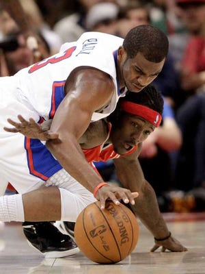 Courtney Fortson (with headband), who played 10 games in the NBA in 2011-12, has become a superstar overseas in China.
