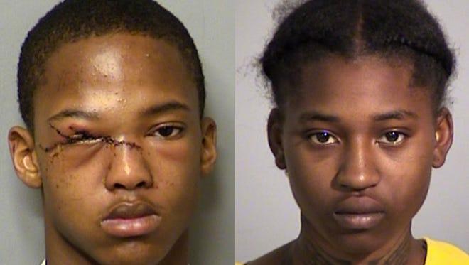 Zion Smith (left) and Jaquisha Love