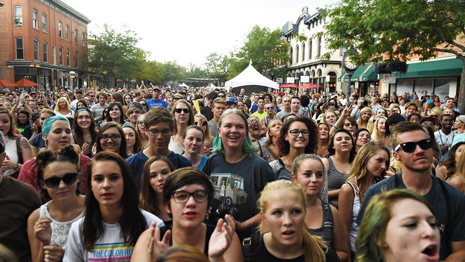 Fans cheer for Shatterproof at NewWestFest on Saturday, August 13, 2016.