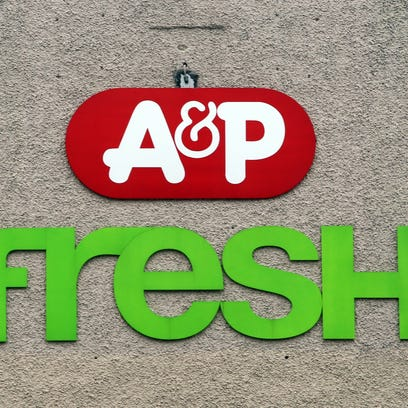 The A&P Fresh supermarket logo on the Halstead Avenue
