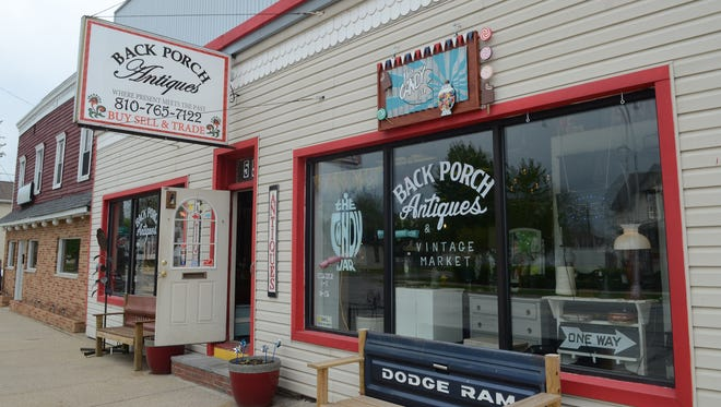 Back Porch Antiques has opened a candy section, called The Candy Jar, ahead of Marine City's beach season.