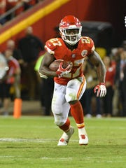 Rookie Kareem Hunt of the unbeaten Chiefs is the NFL's