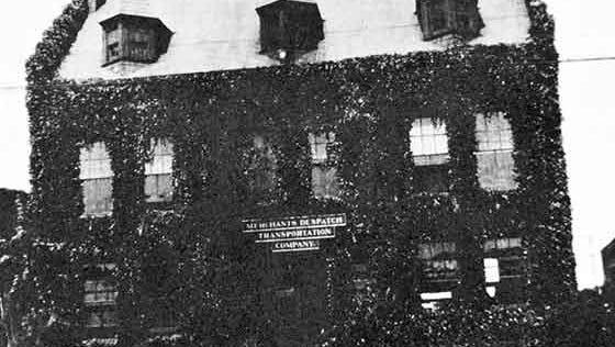 This undated photo shows the Merchants Despatch Transportation Company building.