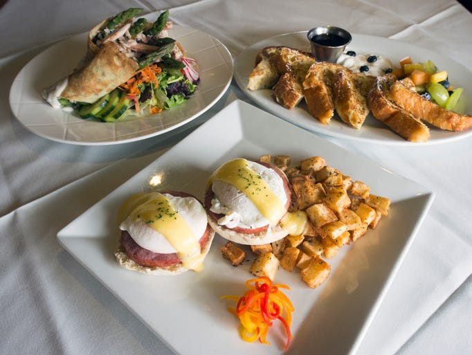 Crab and Asparagus Herb Crepes, Classic Eggs Benedict