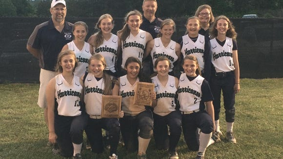 The Cane Creek Middle School softball team.