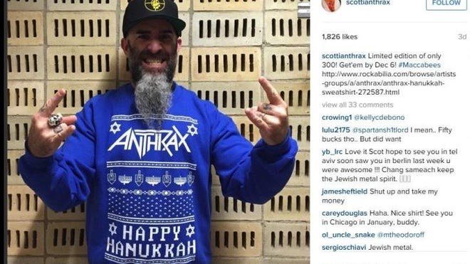 The Ugly Hanukkah Sweater that spurred the lawsuit.