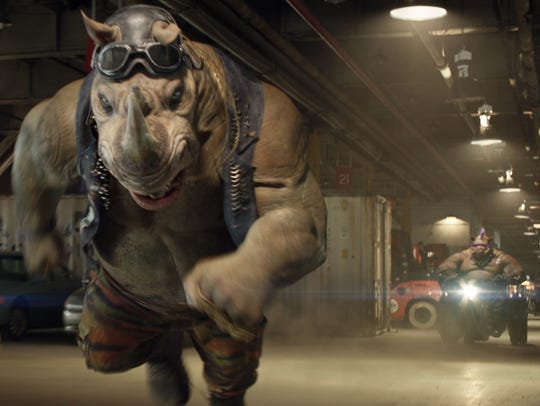 Rocksteady and Bebop are on the attack in 'Teenage