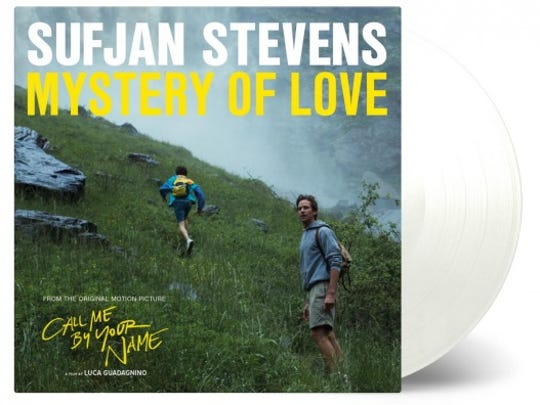 """""""Mystery of Love"""" by Sufjan Stevens will be available on Record Store Day Saturday April 21, 2018."""