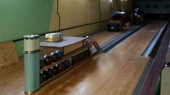 Reader John Strowsky shared this photo of the bowling alleys underneath St. Mary's Church in York.