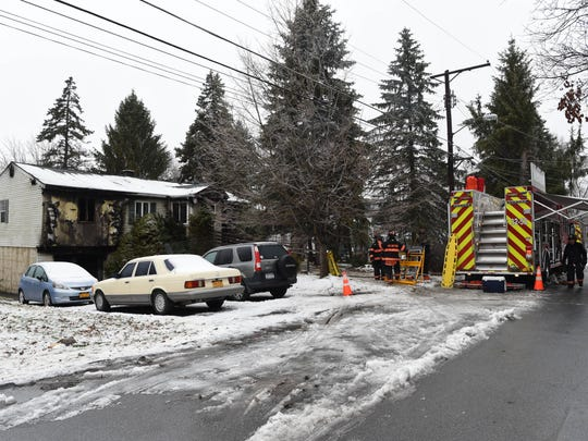The scene of a fatal house fire in the Town of Poughkeepsie Dec. 29, 2015.