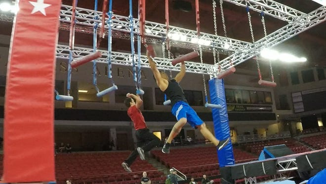 "Deren ""Mowgli"" Perez, right, competed in the Wolfpack Ninja Tour in Denver, CO."