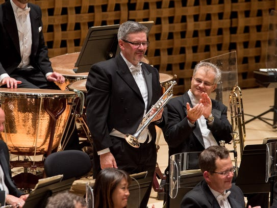 The CSO's newly appointed principal trumpet Robert