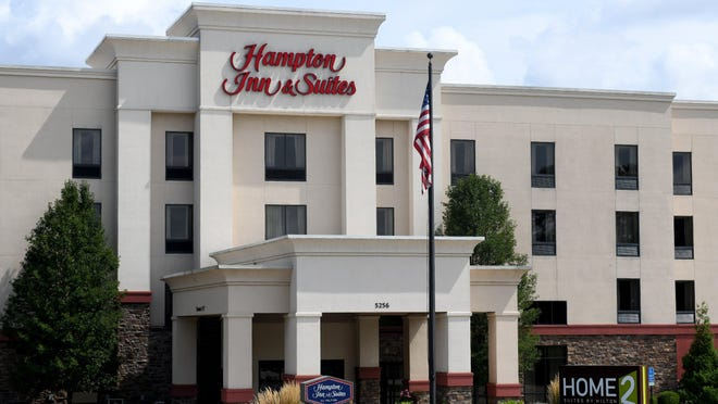 Hotels like th Hampton Inn and Suites and Home2 Suites in Plain Township continue to struggle with fewer guests amid the pandemic.