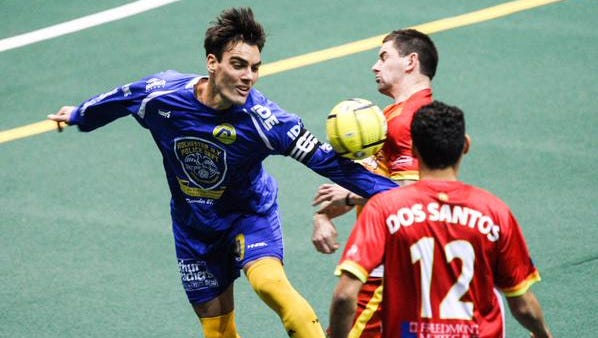 Mauricio Salles in action against Baltimore on Saturday in Rochester.