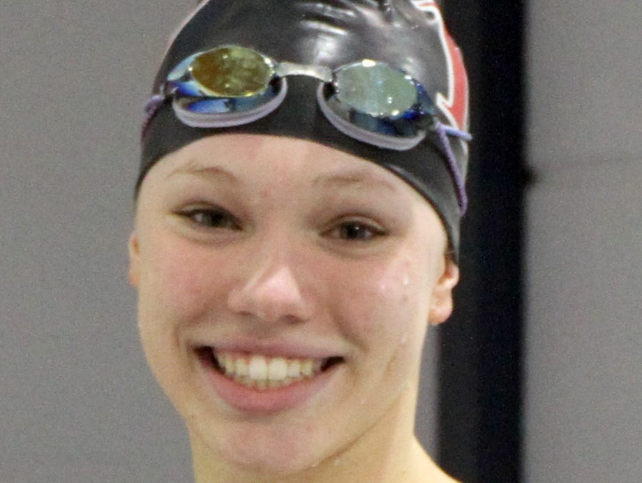 Elmira Notre Dame swimmer Frances VanderMeer in a photo from November of 2014.