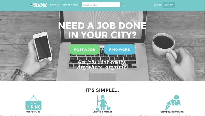 Bizibid is a website aimed at connecting odd-job seekers with people who need work done.