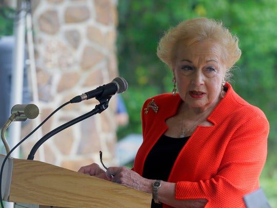 Monmouth County Freeholder Lillian Burry speaks during