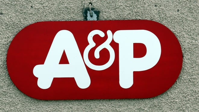 The A&P Fresh supermarket logo on the Halstead Avenue store in Harrison, July 21, 2015.
