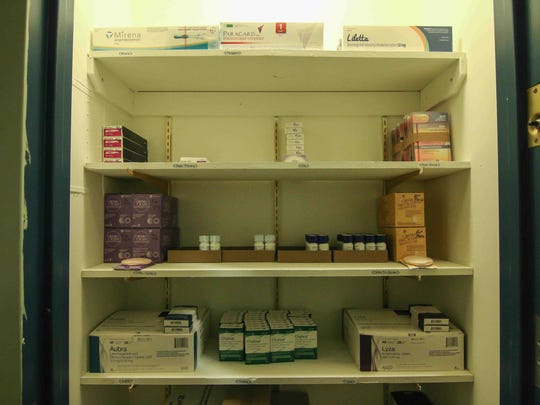 Medical closet stocked with various medications Thursday, Dec. 17, 2015 at Planned Parenthood in Wilmington.
