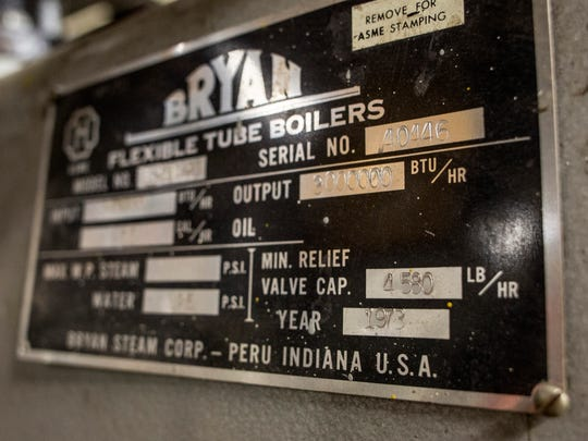 A boiler, which was installed in 1973, is in need of