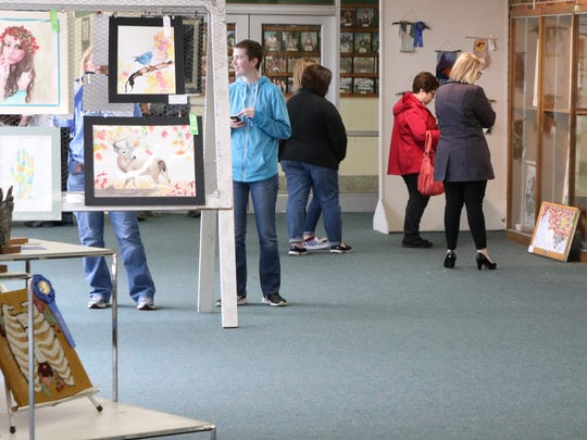 Student artists from across northwest Ohio converged at Oak Harbor High School this past weekend for the 51st annual Five-County Invitational Art Show.