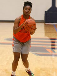 UTEP freshman guard Jordan Jenkins brings her game