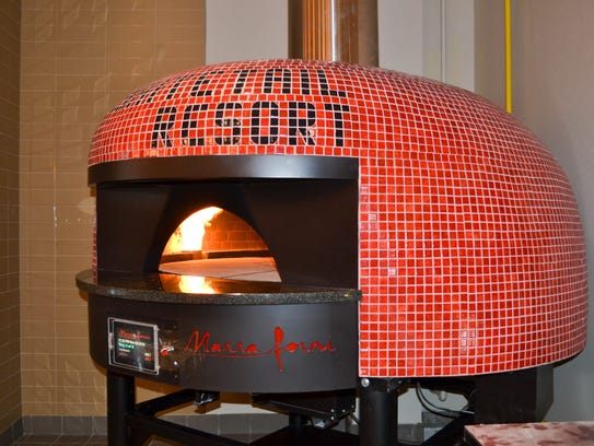 The Whitetail Resort pizzeria features a brick oven.