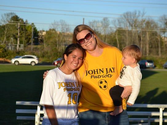 John Jay girls soccer player Nicole Naso poses with