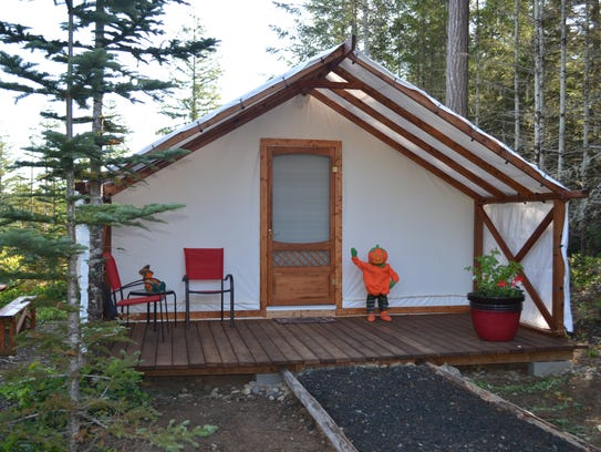 Renting the cabins costs $200 per night for a couple,