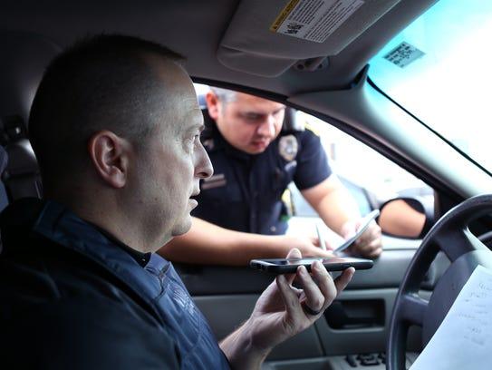 Corpus Christi Police Detective Curtis Volling (left)