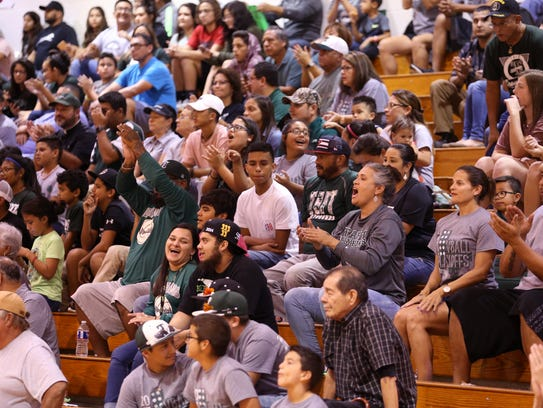 Taft Greyhound fans filled the stands for the volleyball