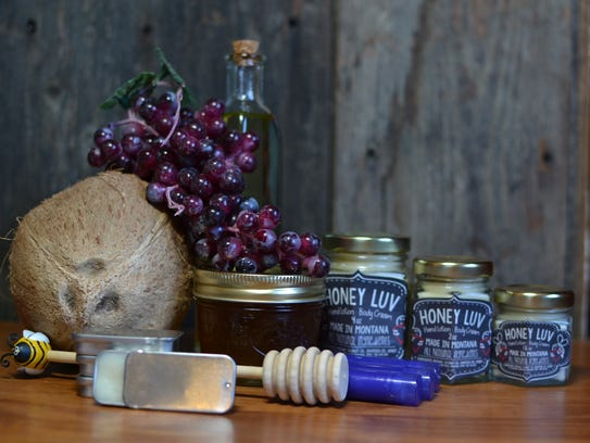 April Baker's Honey Luv lotions are made with Montana-sourced