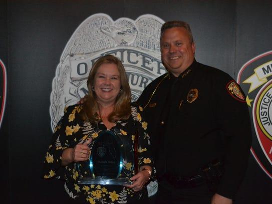 Melinda Bishop and Chief Gillespie