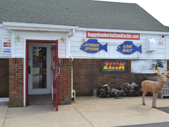 Happy Hooker outdoors sells fishing rods, live bait