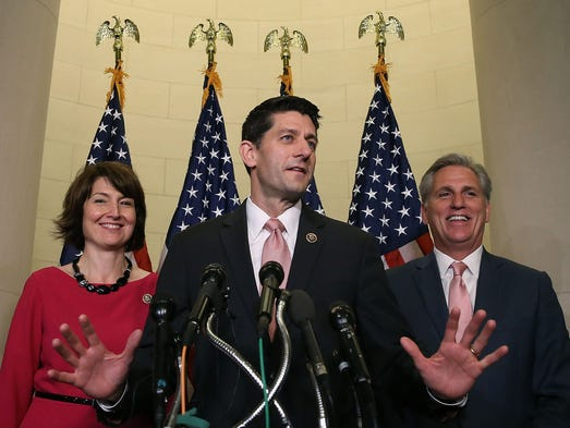 House Speaker Paul Ryan, R-Wis., with Republican Conference