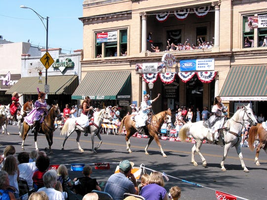 Rodeo parade at the annual Prescott Frontier Days and the World's Oldest Rodeo.