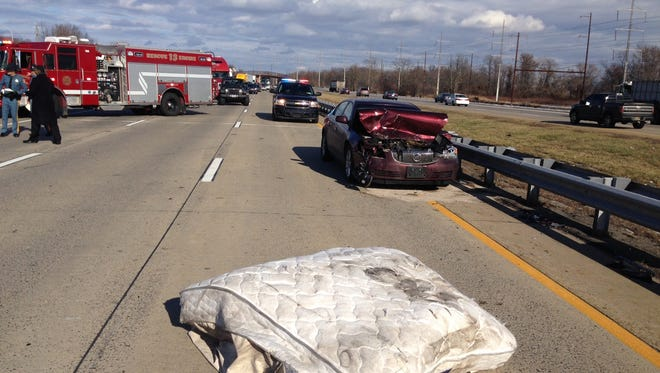 A multi-vehicle crash has all lanes of southbound I-495 closed.