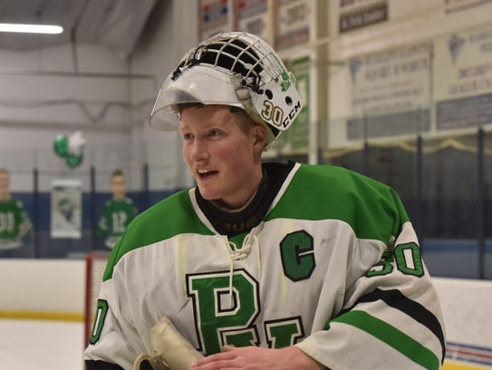 "Stephen Brennan is the first Pascack Valley/Hills goaltender to wear the captain's ""C"" on his sweater in coach Ken DelSanto's seven-season tenure."