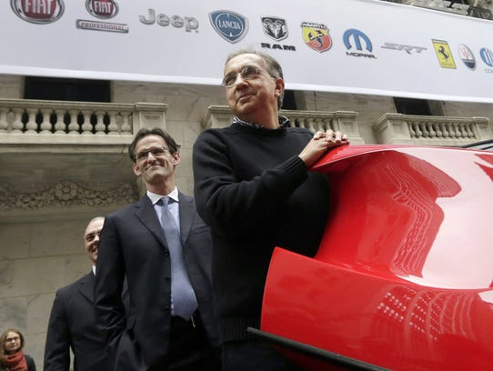 FCA CEO Sergio Marchionne, right, with company CFO