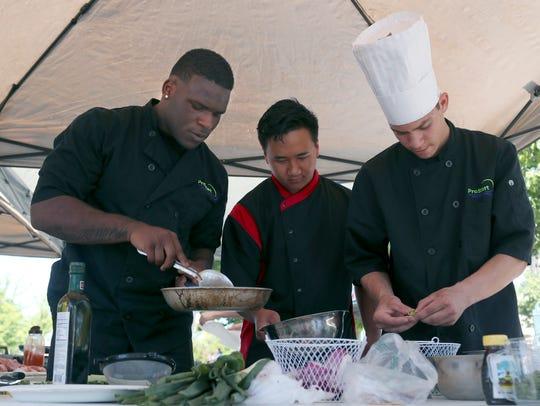 Team Enterprise members Victor Penn-Nash, from left,