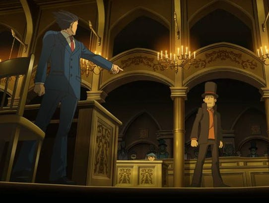 "Phoenix Wright and Hershel Layton cross paths in ""Professor"