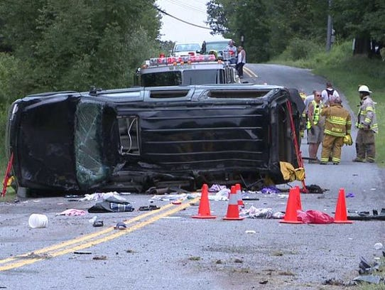 The SUV that flipped and rolled over last year in Paupack