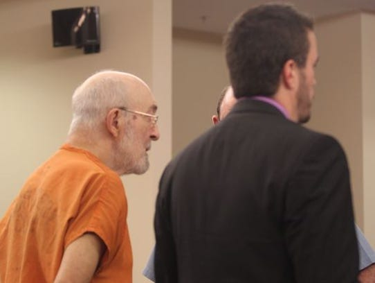 Herbert Hensley Jr. appeared in court with his lawyer,