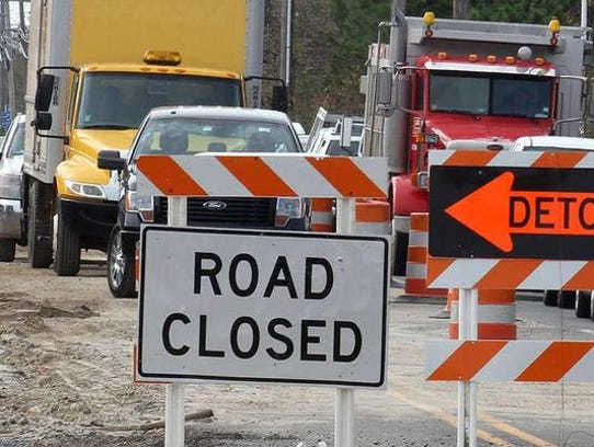 Several major road closures are already giving commuters