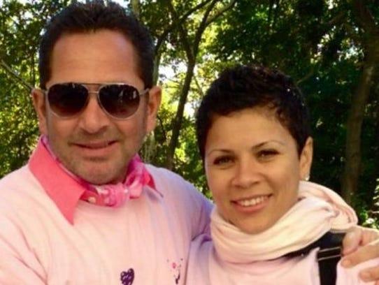 Emma Palfi with her husband, Patrick.