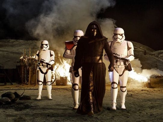 A scene from the upcoming 'Star Wars: The Force Awakens.'