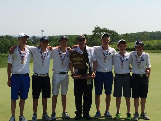 The St. Mary's Springs boys golf team won the Division
